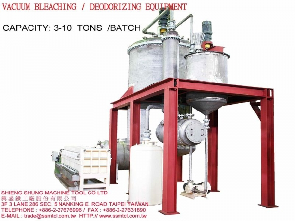 VACUUM BLEACHING/DEODORIZING EQUIPMENT